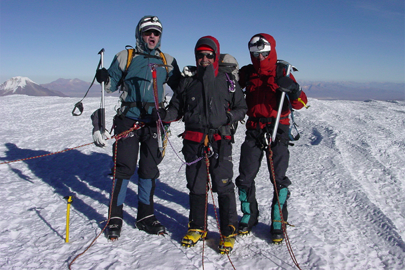 Al and the team at the Summit of Sajama Elevation 21486 ft.